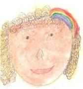 self portrait with a rainbow barrette