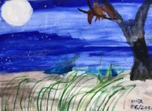 Full Moon Tree Owl